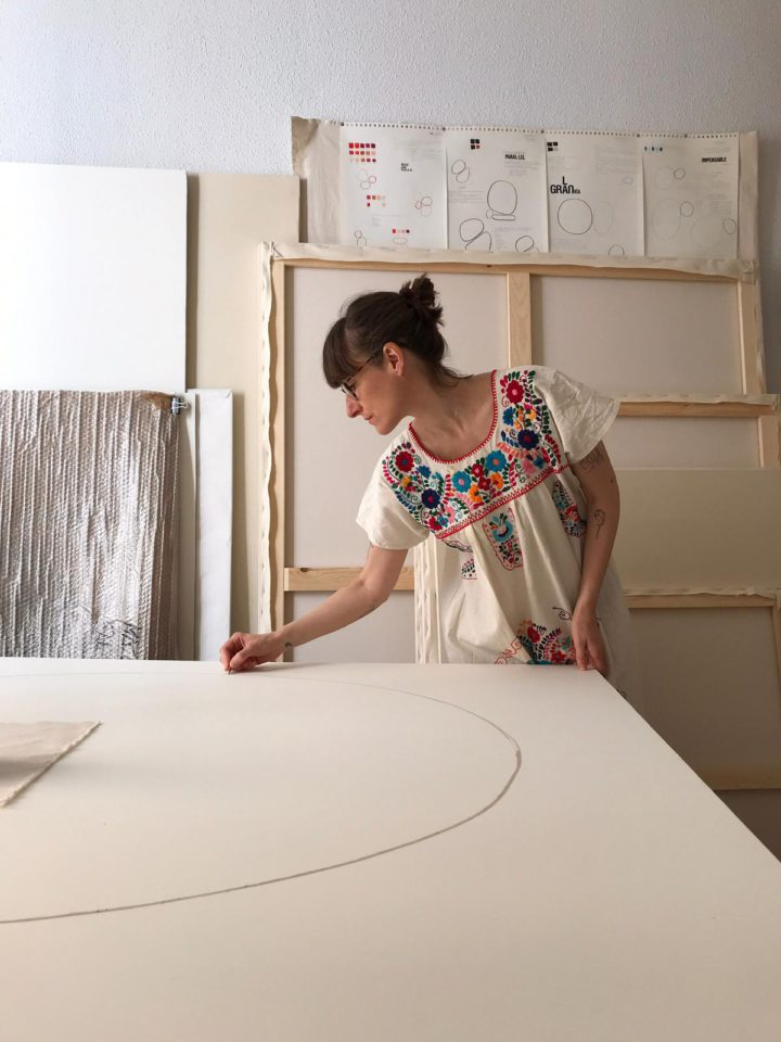 Mari Quiñonero at her studio in Madrid